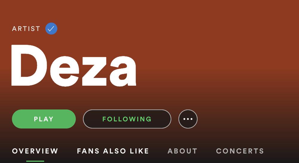 DezaのSpotifyページ