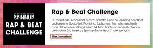 Spinnup Rap Beat Challenge Anleitung