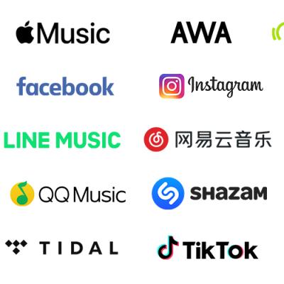 中国Neteaseや韓国Bugsへ音楽配信!配信ストアが増えました♪