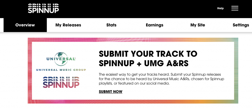 Submit your track to Spinnup & Universal Music A&R!